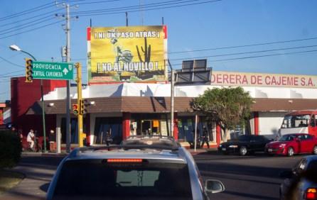 Desde Cd Obregón también se apoya la lucha. Fotografía: Aldo Santiago