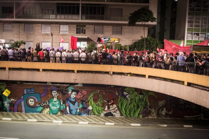 Protesta anti-mundialista. Fotografías: Heriberto Paredes