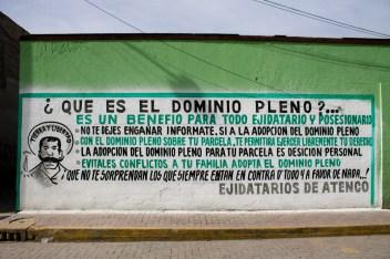 Campaña emprendida por el comisariado priísta a favor del domino pleno, firmada por Ejidatarios de Atenco, a pesar de no haber consenso.
