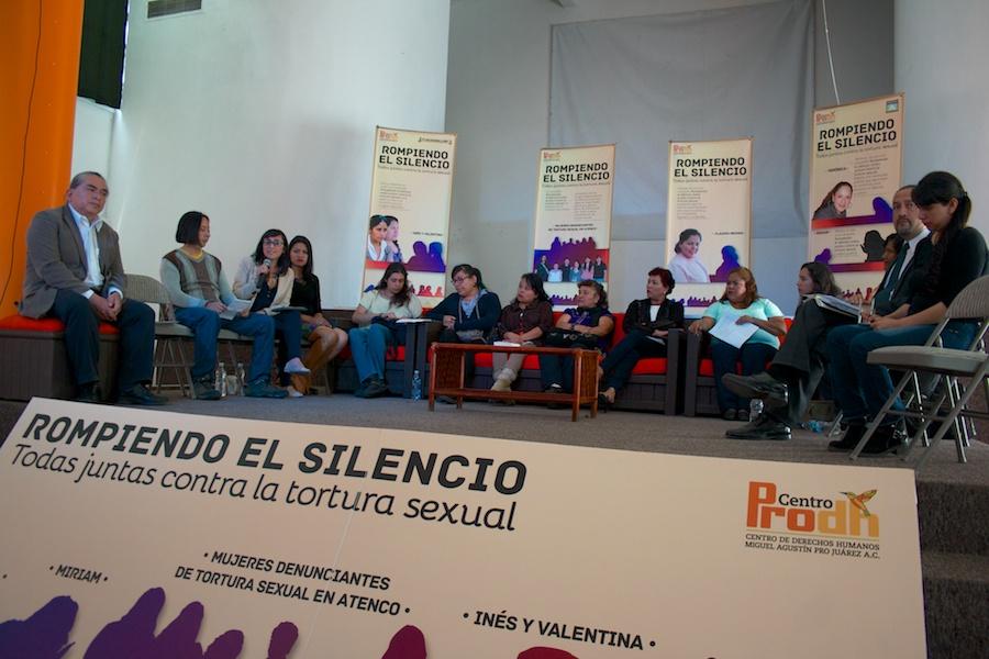 Inicio de la campaña «Rompiendo el silencio» en el auditorio del Centro Prodh. Fotografía: Romeo LopCam