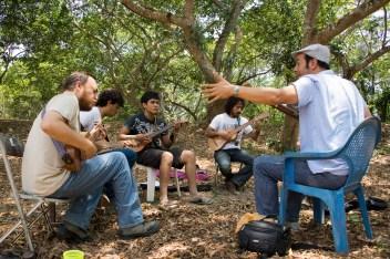 Ramón Gutiérrez y su grupo de aprendices avanzados