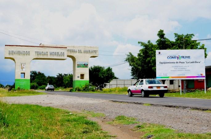 En este arco inicia la construcción del gasoducto en Morelos, municipio de Temoac, «tierra del amaranto».
