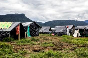 Villa Colombia Humana, toma de terrenos por parte de comunidades desplazadas debido a las fumigaciones aéreas de glifosato y la falta de oportunidades al ingreso de multinacionales al Putumayo.