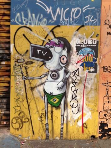 Pintura mural en las calles de São Paulo. Fotografía: Heriberto paredes