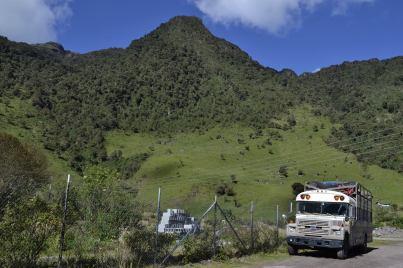 Papallacta, Ecuador, Septiembre 2014 Camino a Quito para encontrarnos con los YASunidos. Fotografía: Caravana Climática