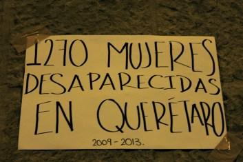Cifras de desaparecidas en Querétaro. Fotografía: Itzayana Licea