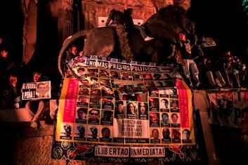 Colectivo se une a la exigencia por la libertad de los presos. Fotografía: Colectivo1DMX