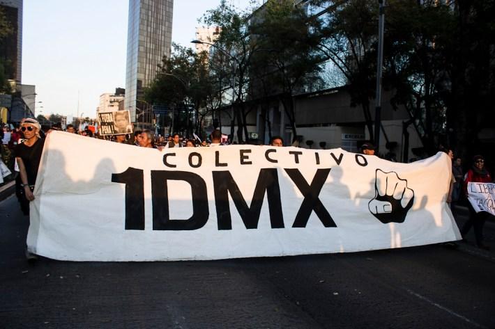 Desde el 2012 se ha criminalizado cada vez más, en el D.F., a la juventud, a la protesta y a la disidencia. Fotografía: Colectivo1DMX