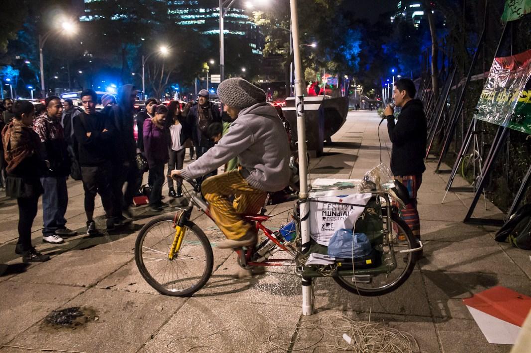Bici-sonido. Fotografía: Regina López