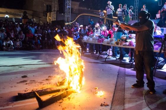 La quema de la figura de Peña- Nieto