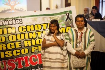 Familiares de las víctimas de represión en las comunidades asháninkas de la Amazonia peruana. Foto: Juliana Bittencourt