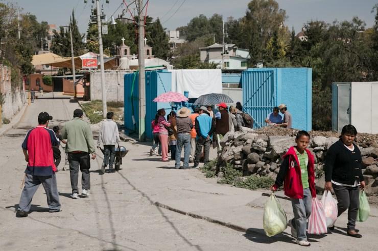 Panorama de uno de los pozos que distribuyen el agua en Coyotepec, Estado de México. Fotografía: Giulia Iacolutti
