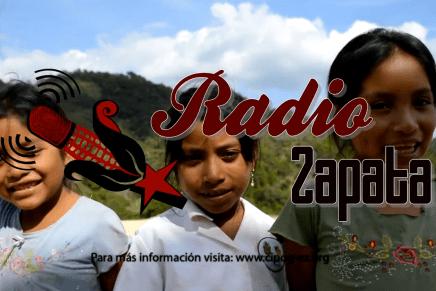 Invitación a la inauguración de Radio Zapata