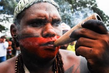 Los xucurú están dispuestos a ofrendar sus vidas a sus encantados –ancestros– por defender sus tierras sagradas. Fotografía: Santiago Navarro F.