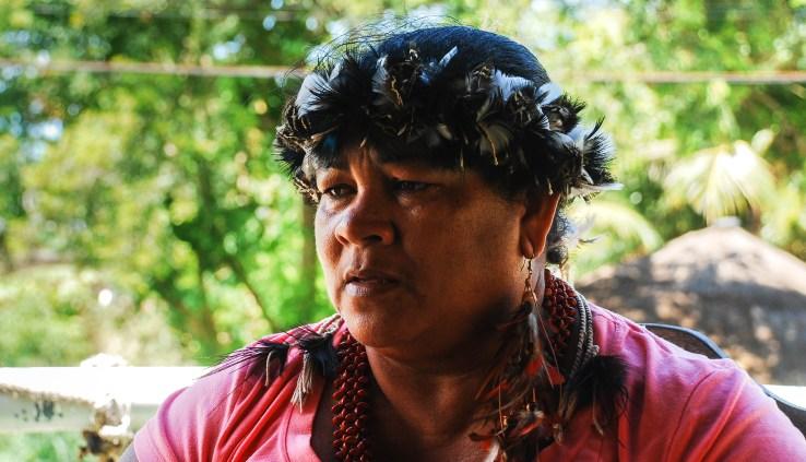 Jefa indígena tupinambá de la región de la playa. Fotografía: Santiago Navarro F.