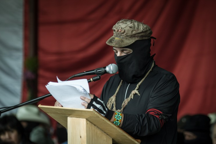 Subcomandante insurgente Galeano. Fotografía: Heriberto Paredes