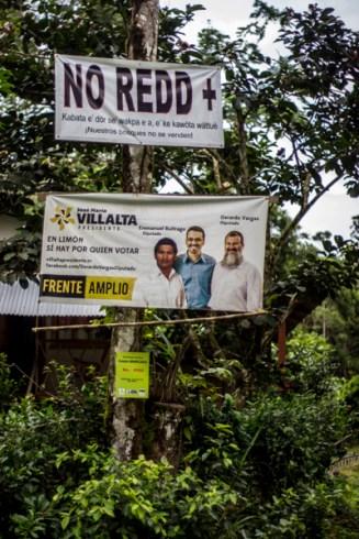25 de junio del 2014. Tránsito de la Caravana Climática del cantón de Talamanca hacia la frontera con Panamá. http://caravanaclimatica.org/