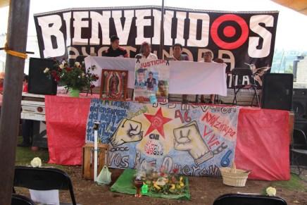 Ayotzinapa con pueblos originarios del Estado de México: «La única lucha que se pierde es la que se abandona»