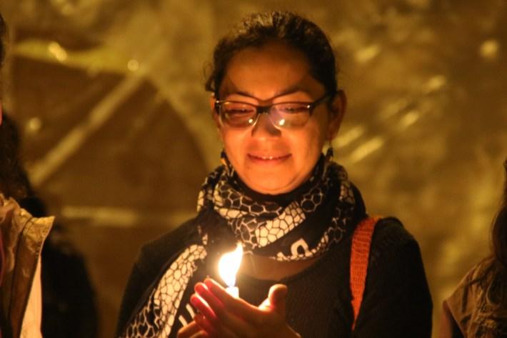 Ceremonia en el parque El Árbolito, Quito.