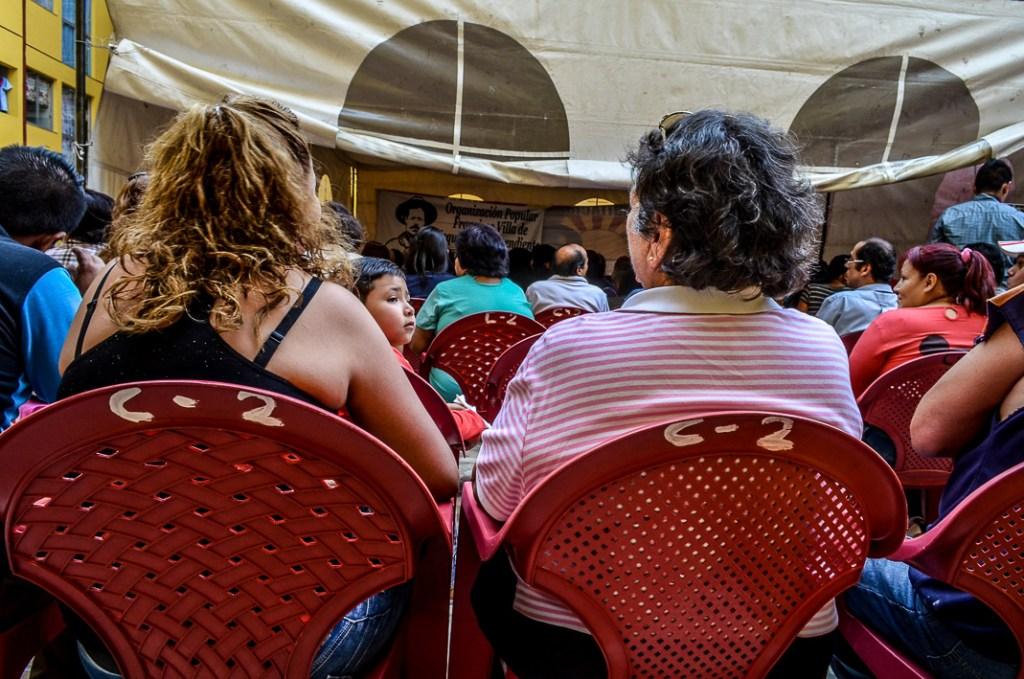 Zibechi captó la atención de las y los villistas de Iztapalapa