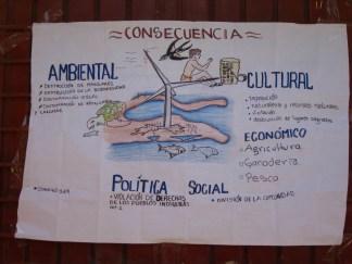 Cartel para las mesas de discusión durante el CNI-Región Istmo, abril 2014. Fotografía: La Pirata