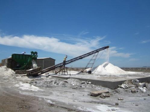 Cooperativa de producción de sal cerca de Álvaro Obregón, mayo 2014. Fotografía: Valentina Valle