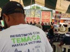 La delegación de Temacapulín, Jalisco, mantuvo un puesto con publicaciones referente a su lucha contra la presa del Zapotillo