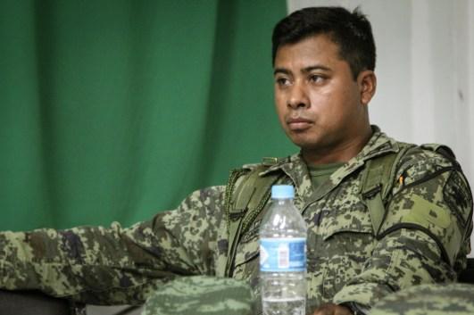 Teniente de infantería Ricardo Canseco AriasFotografía: Heriberto Paredes