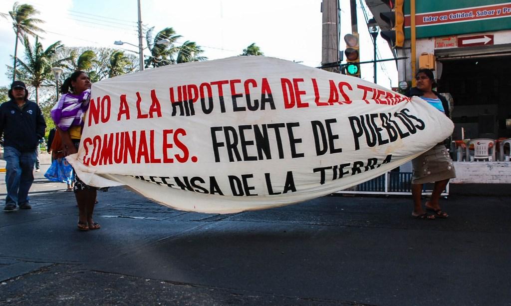 No a la hipoteca de las tierras comunales-Istmo-Oaxaca