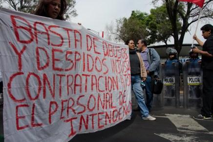 Las trabajadoras de intendencia salen a las calles