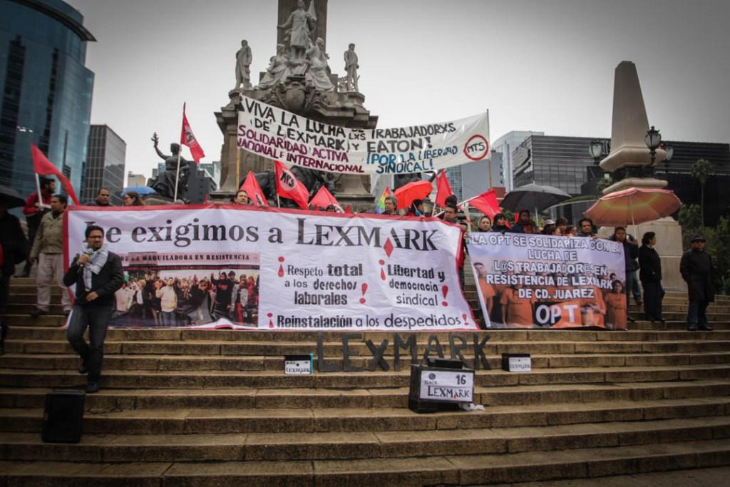 Lanzamiento del boicot en el Ángel de la Independencia, Ciudad de México