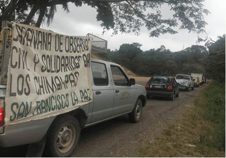 La Caravana de apoyo a san Francisco la Paz Chimalapa