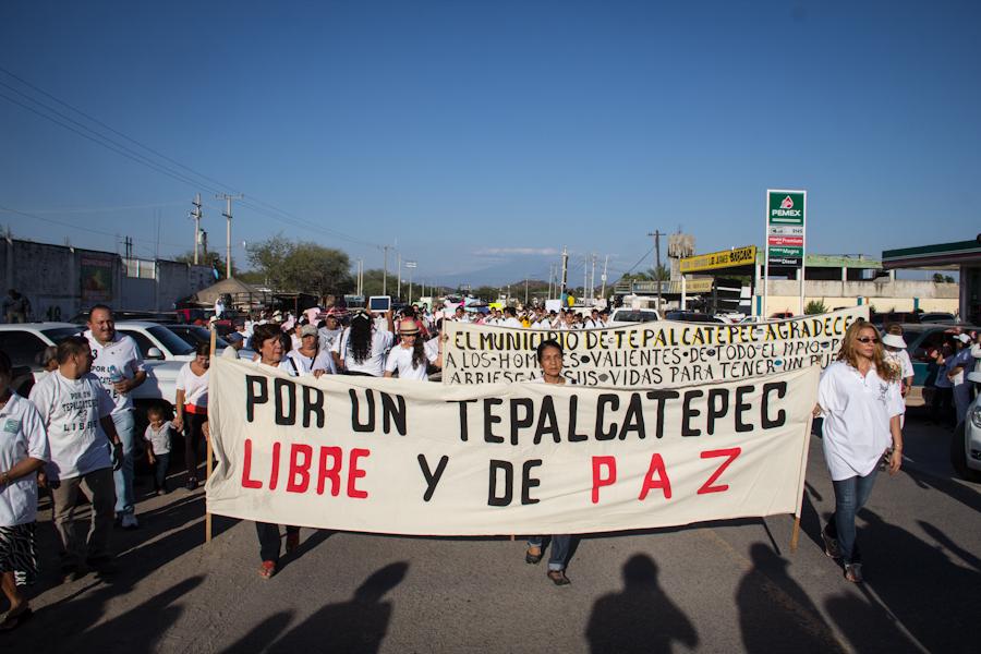 Primera conmemoración del levantamiento armado de las autodefensas, febrero de 2014. Fotografía: Heriberto Paredes