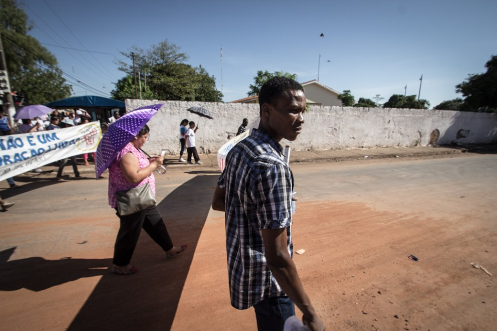 Manifestación contra el trabajo esclavo que aún se mantiene sólido en algunos estados de Brasil. Fotografía: Heriberto Paredes