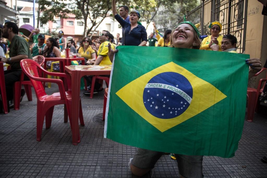 Festejos por algunos goles de la selección brasileña de fútbol durante el Mundial de Fútbol de 2014. Fotografía: Heriberto Paredes