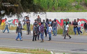 El desalojo violento ocurrido la mañana del 20 de julio. Foto: Colectivo TragameLuz
