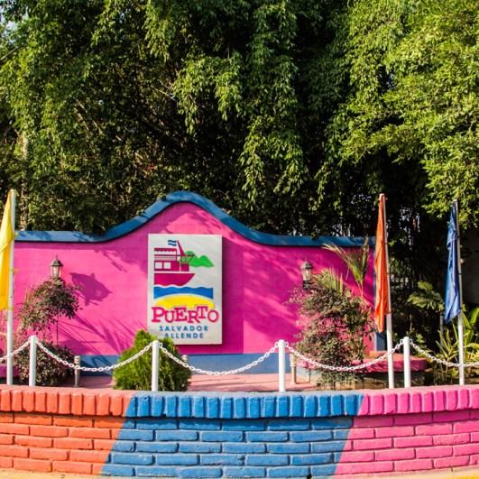 La entrada al Puerto Salvador Allende.