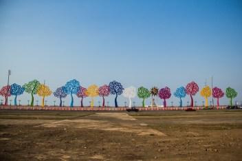 Los árboles de la vida, fuertemente promovidos por Rosario Murillo y en seguida 'bautizados' arbolatas por el pueblo de Managua.