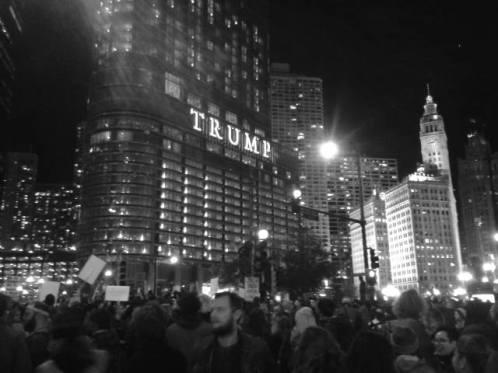 Protestas en Chicago, Illinois. Foto: Andrea Ene