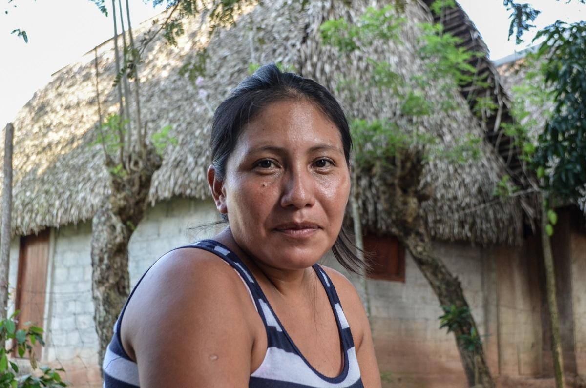 Victoria Jiménez Mendoza. Indígena Chinateca, entrevistada en Cerro Caliente, municipio de Santiago Jocotepec. Fotografía: José Luis Santillán