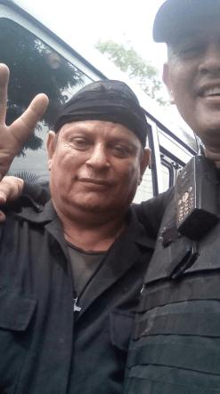 Policia que participó en el rescate de Avellan