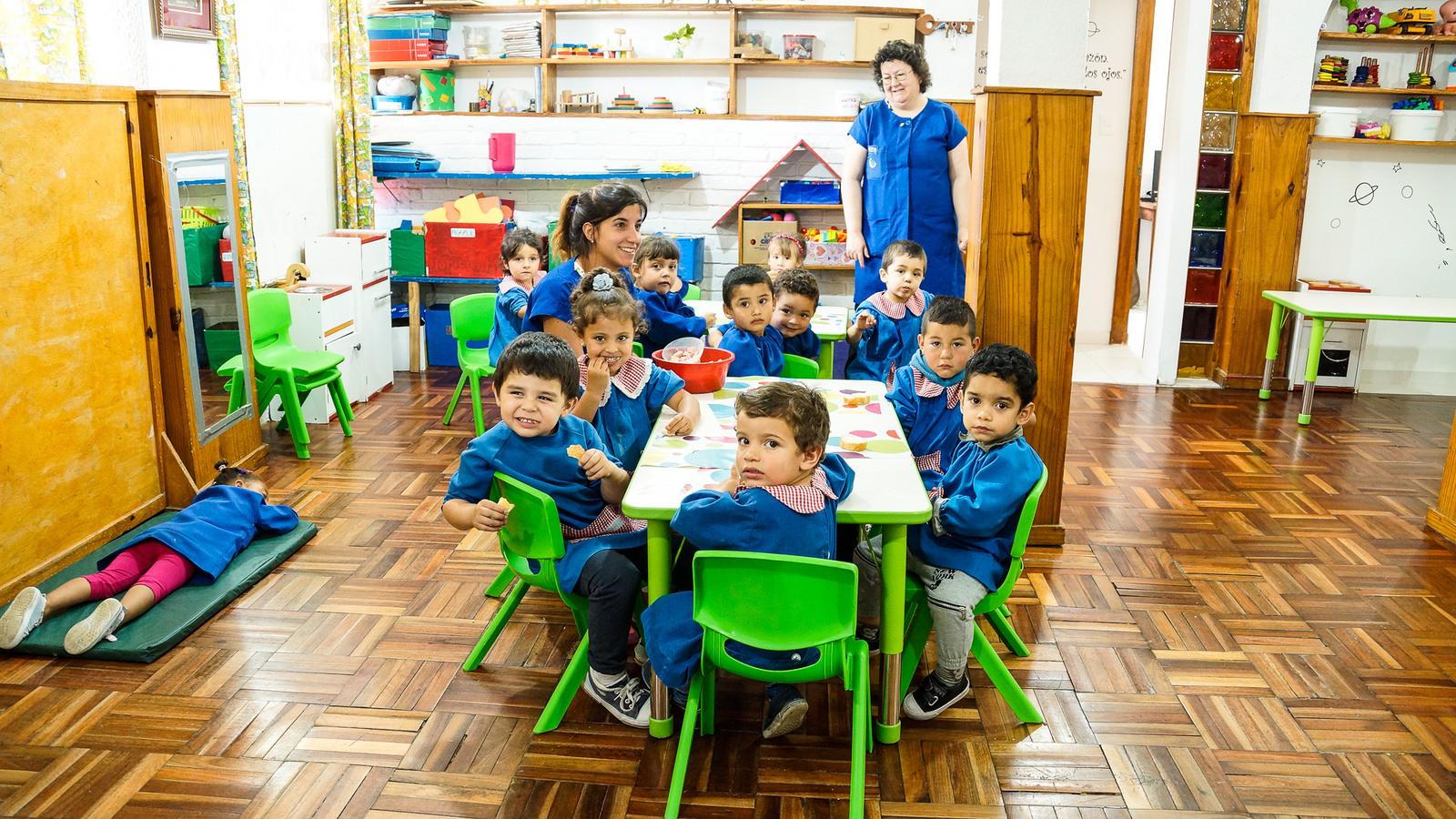 Jardín infantil administrado por las cooperativas del complejo