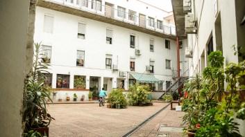 Civici, en el casco histórico de Montevideo