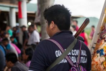 El trabajo en la guardia comunal es voluntario y rotativo, todos participan como un trabajo en favor de la comunidad.