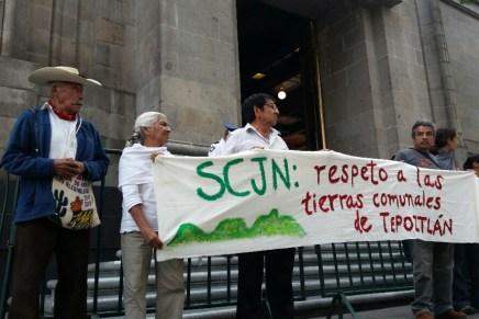 SCJN pospone el fallo de la restitución de tierras comunales del pueblo de Tepoztlán.