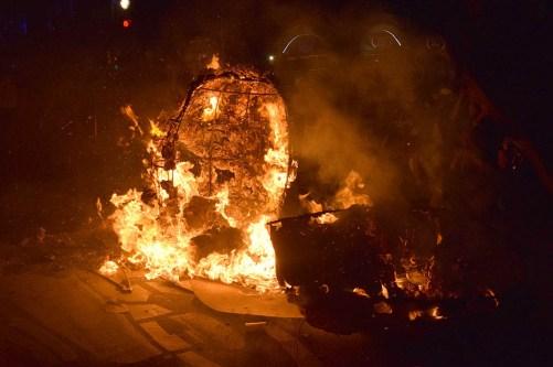 Se quema cabeza de Díaz Ordaz Foto por Ita Ramirez
