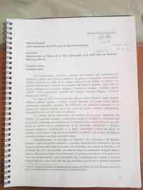 Carta ONU sellada y firmada