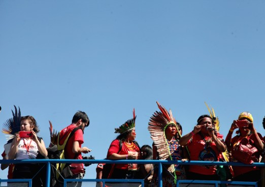 Representantes de mujeres indígenas. Por Itandehuy Castañeda.