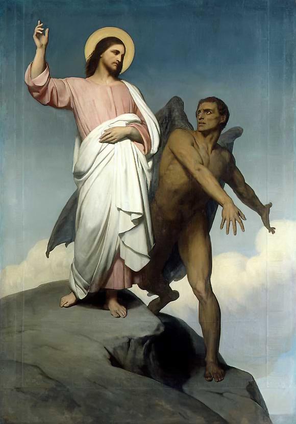 The Temptation of Christ Ary Scheffer, 1854