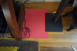 Foam pad solution for a tight fit